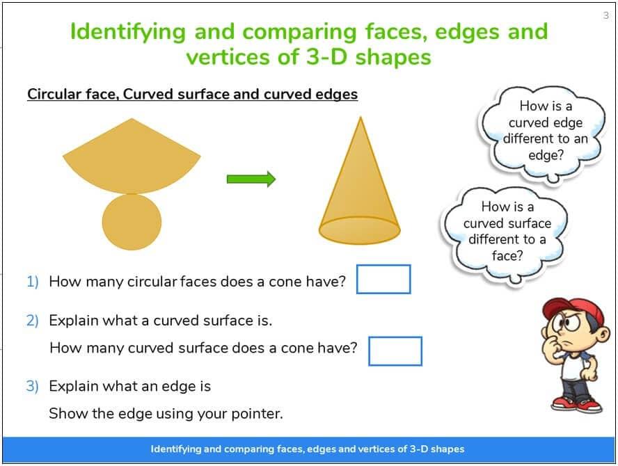 3D shapes lesson