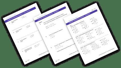 Quadratic simultaneous equations worksheets